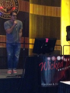Celebrity Nicholas Brendon sings Karaoke with Wicked Weezy!